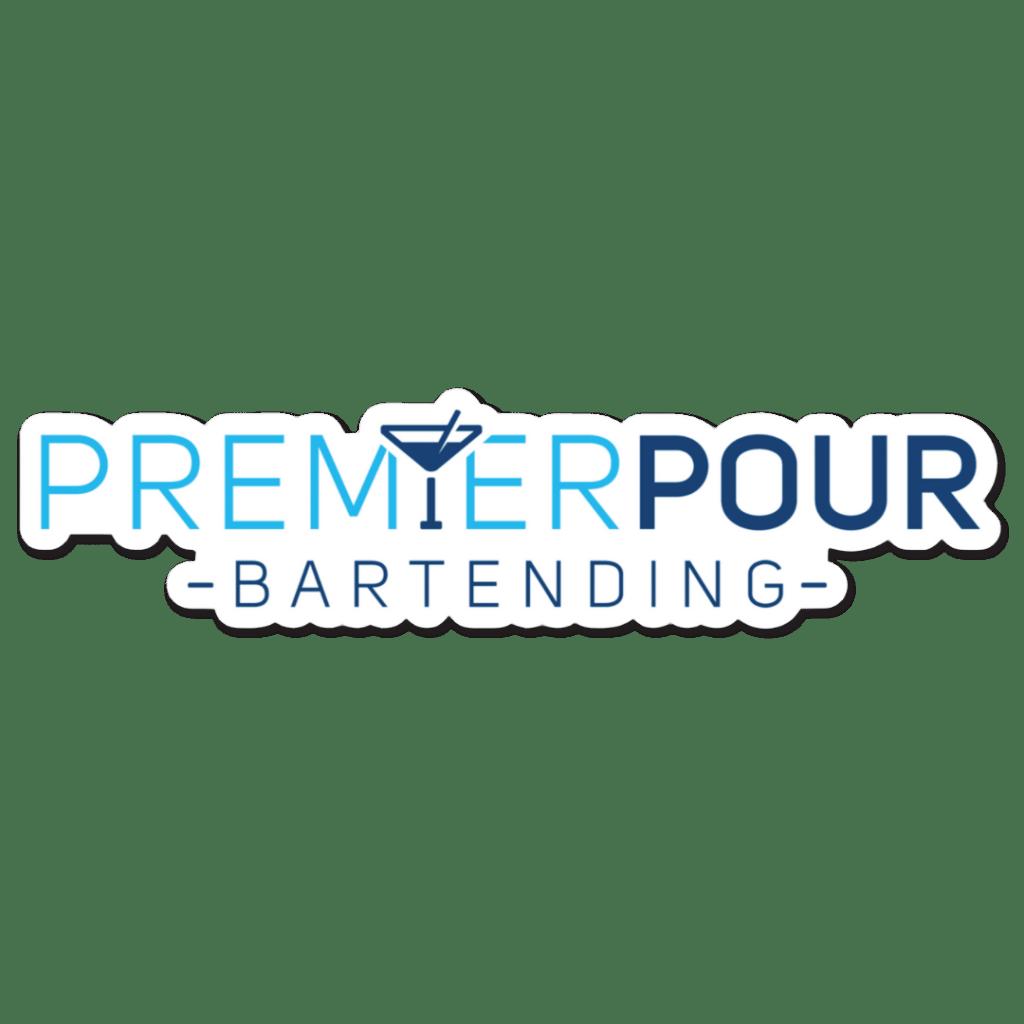 "Custom Premier Pour Bartending Die Cut Sticker, 6"" x 1.5"""