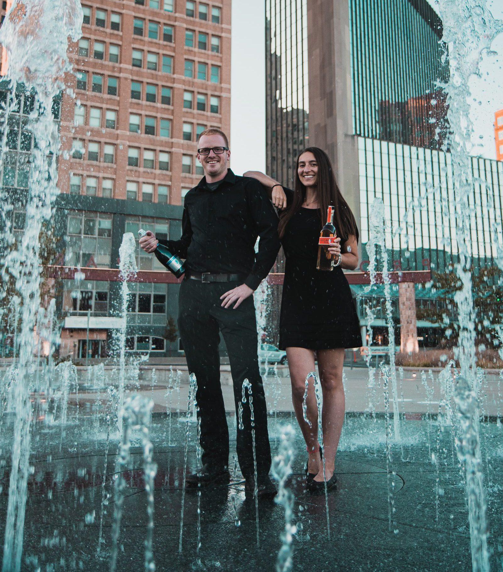 Premier Pour Bartending owner and bartender modeling in downtown Toledo