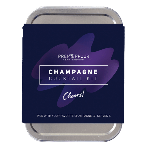 Custom Champagne Cocktail Kit, Serves 6 Champagne Cocktails, Pair with your favorite champagne