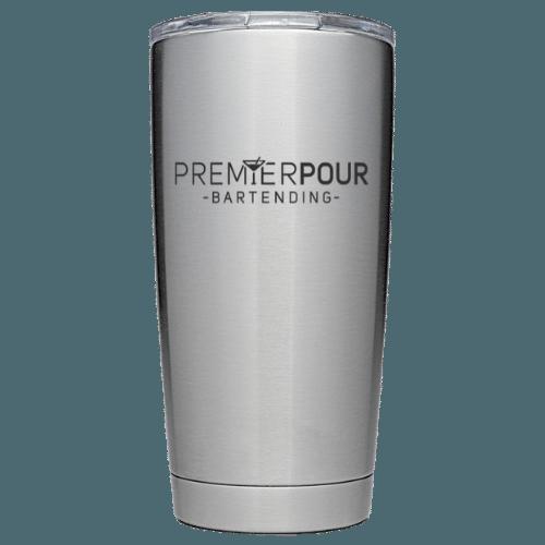 Custom Premier Pour Bartending 20oz YETI Tumbler w/ MagSlider Lid and Logo