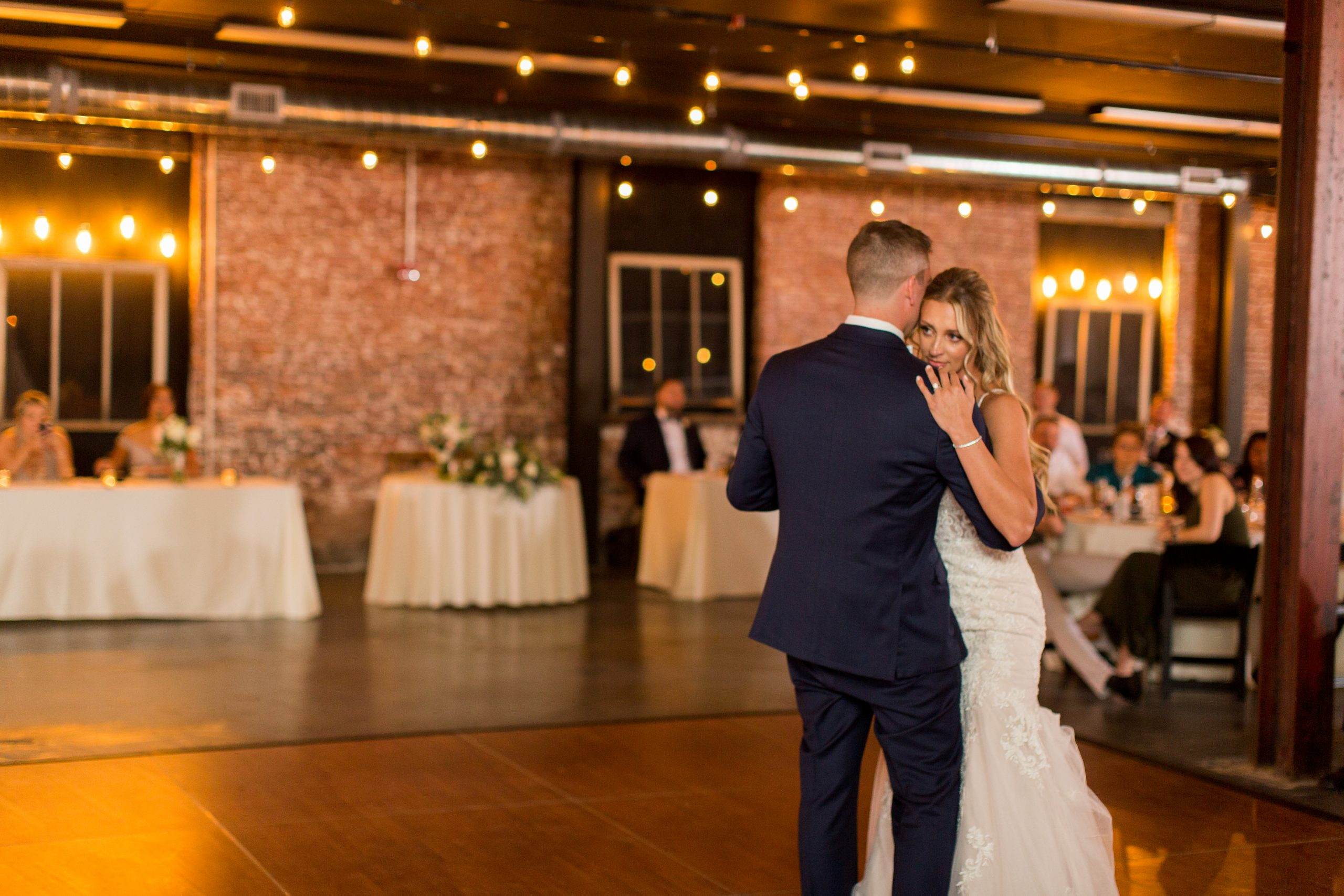 Macy and Ryan's first dance as husband and wife at The Venues Toledo.